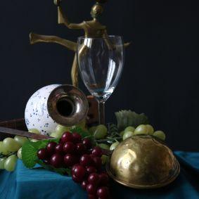 Luca: Vanitasstilleben mit Vase, Kelle und Leuchter