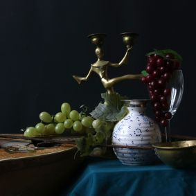 Tobias: Vanitasstilleben mit Vase und Laute